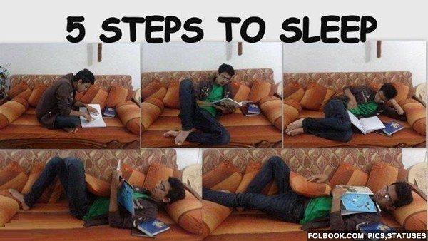 5 steps to sleep. . Sleeping