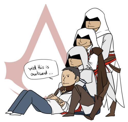 ACIII. Desmond has a lot of different ancestors... dont u mean hawkward? ac