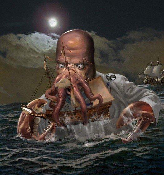 Afraid of the kraken? Why not zoidberg?. .. my background curently zoidberg kraken Eggs and ham