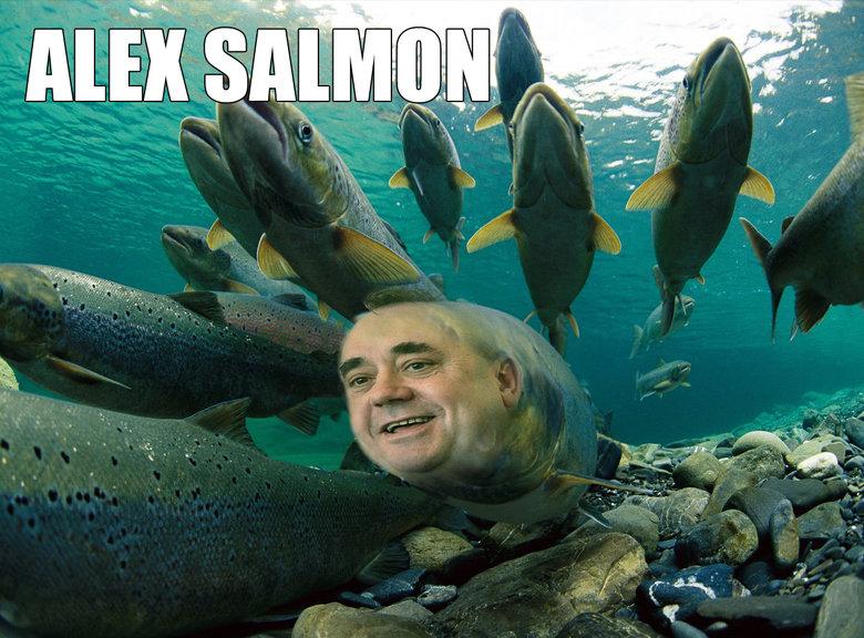 Alex Salmon, Liberator of Scotland!. . scotland independance alex Salmond salmon Fish fishy weird Photoshop