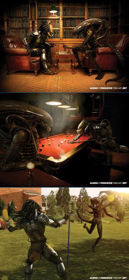 Alien vs Predator. Srry if its a repost.. funny pic, buyt yeah its a repost sorry Alien vs Predato