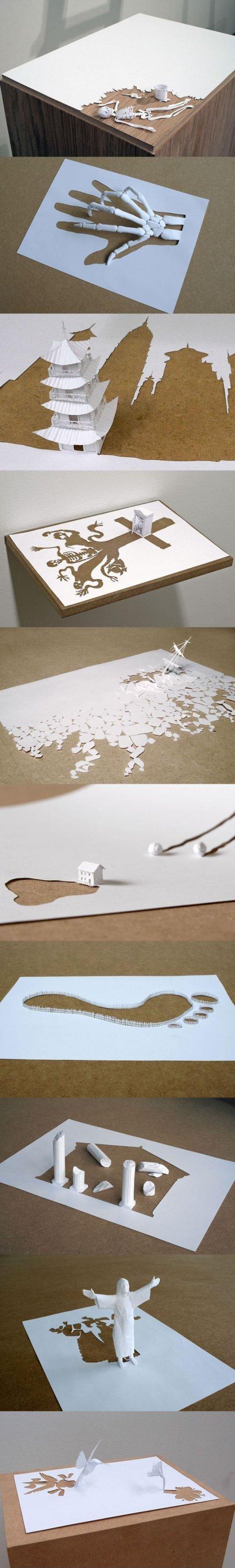 amazing paper art. credits to Peter Callesen.. WTF?! Tobi isnt Obito you retard paper Art amazing