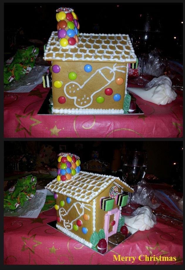 An original Gingerbread House. gingerbread house made by a friend haha. An original Gingerbread House gingerbread house made by a friend haha