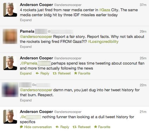Anderson Cooper. Anderson Cooper: Burning Like a Boss!. Voldomort Cooper ( Mm qt 4 mks inst fired 'hem near media in . City. The same media center' tilde hit by anderson cooper burn twitter
