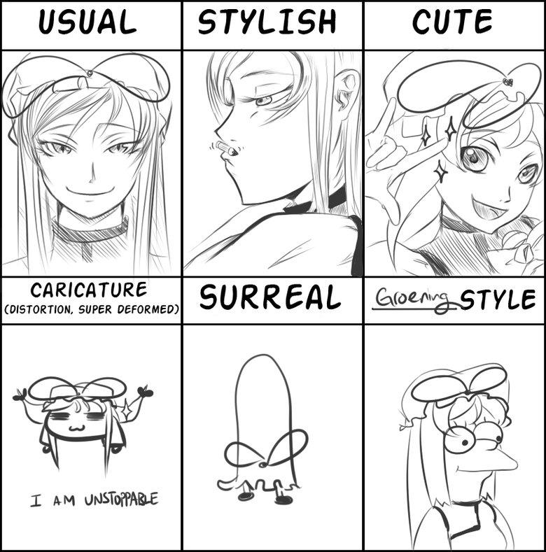 Art Styles. . USUAL STYLISH CUTE Art Styles USUAL STYLISH CUTE
