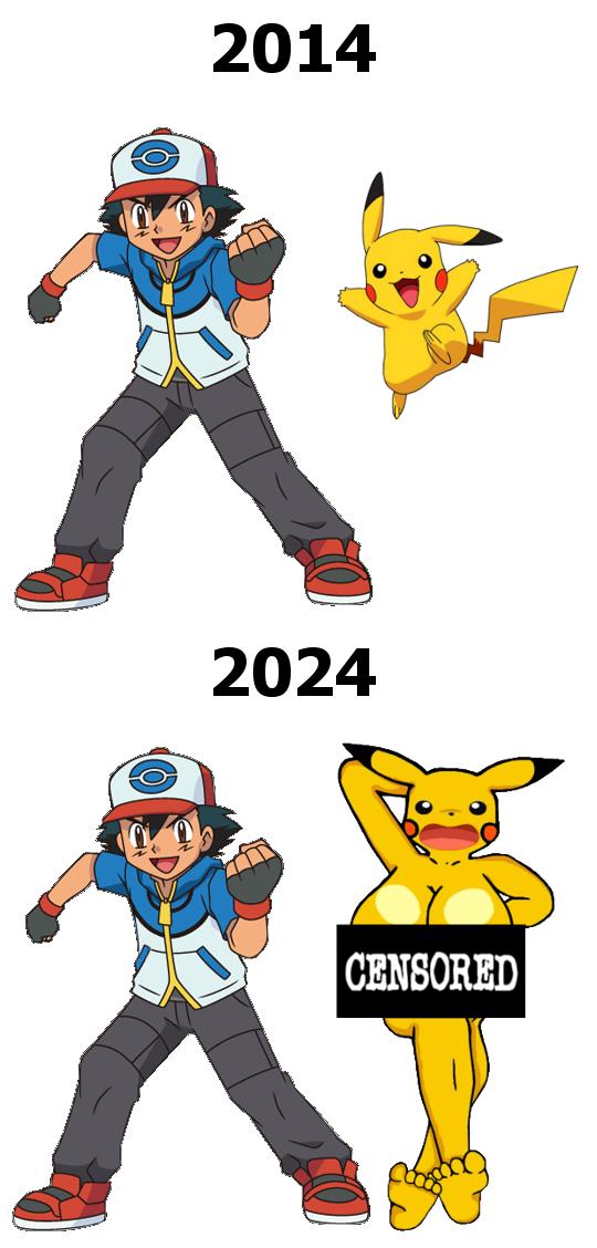 Ash is immortal but Pikachu isn't?. . PIKACHU Pokemon Ash Rule 34