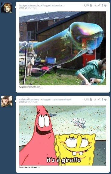 awhh. . giraffe spongebo