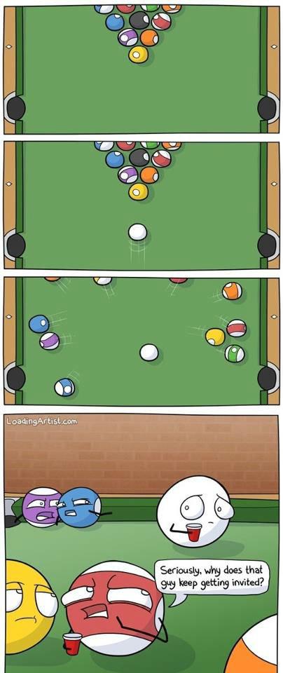 Awkward Pool Ball. . Awkward Pool Ball
