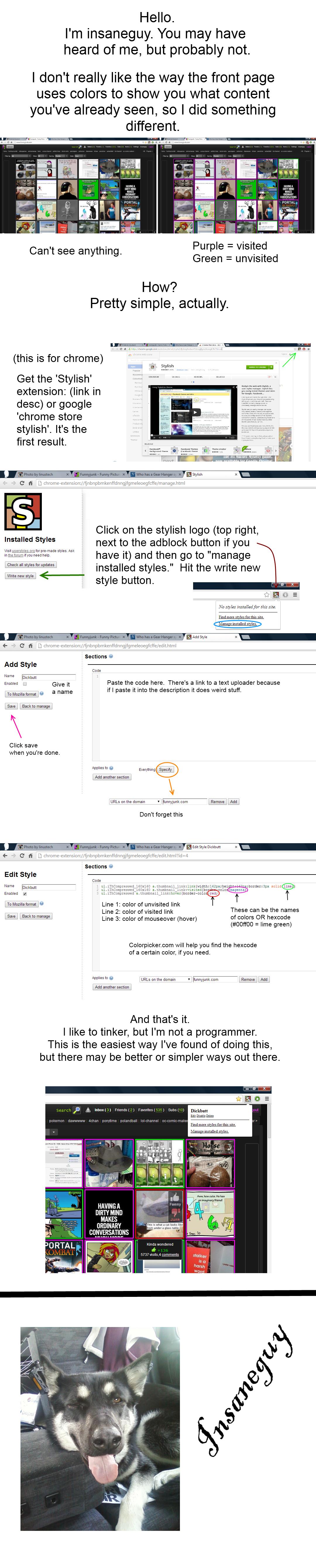 Easier browsing on fj. chrome.google.com/webstore/detail/stylish/fjnbnpbmkenffdnngjfgmeleoegfcffe?hl=en <--- chrome store stylish textuploader.com/1cai <- Easier browsing on FJ insaneguy color change