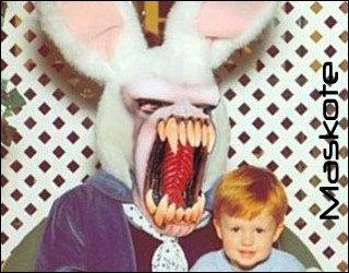Easter Bunny. aww so cute... Let it in, it looks legit... Easter bunny little Kid kill justin Beiber