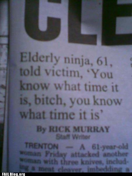 Elderly Ninja. . ii: trc, ill. lil furth . Ill Bill! Ill Elderly Ninja ii: trc ill lil furth Ill Bill!