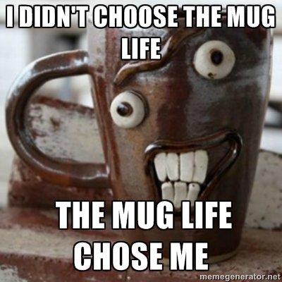 "eltiT. .... tact. ""Mug life""?! Oh hahahahaha, you sick ! you! Now gimme a mug, dammit! no"