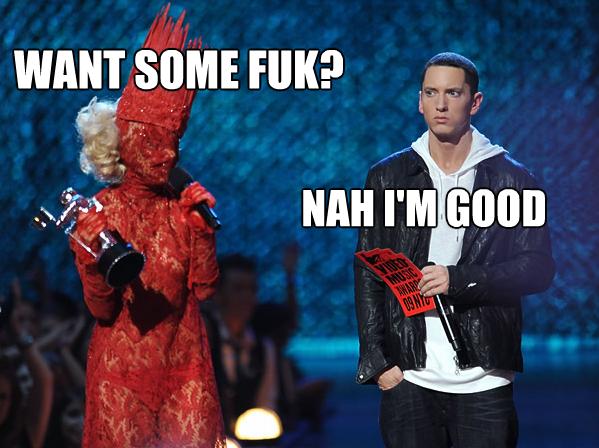 Eminem gets an offer. . lady gaga Eminem
