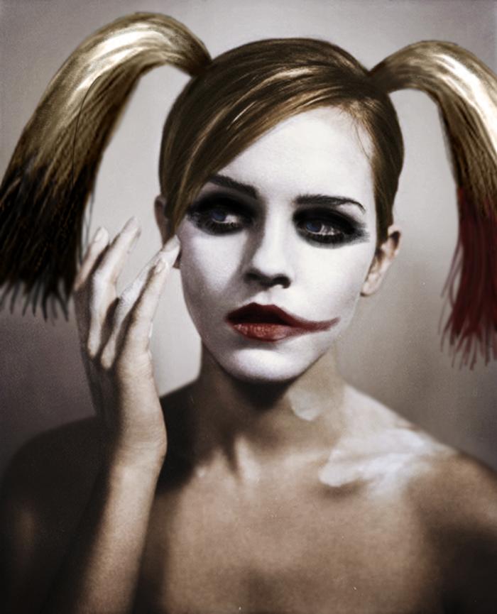 Emma Watson as Harley Quinn. . Emma Watson as Harley Quinn