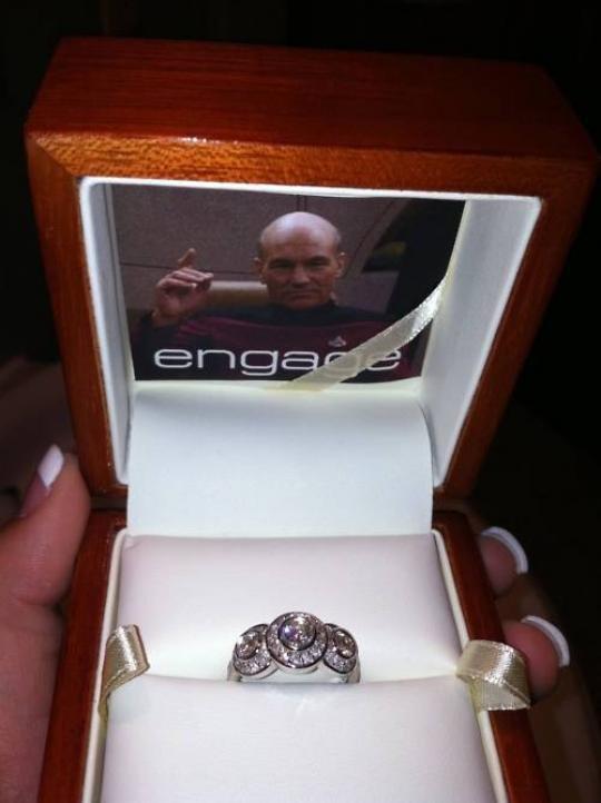 Engage. . Star Trek Engage engagement ring