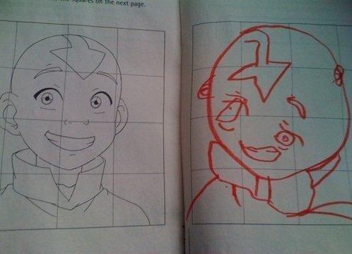 epic drawing fail. yup.. sloth the last airbender avatar