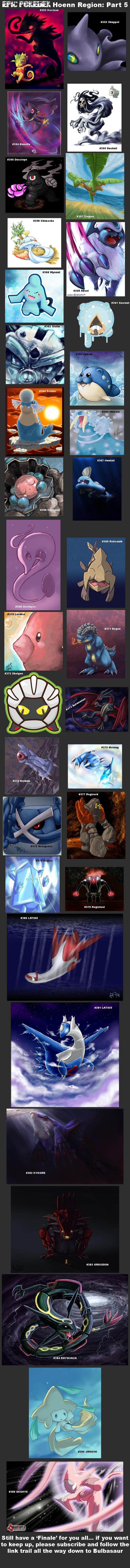 Epic Pokedex Hoenn Region Part 5. Part 4:<br /> /funny_pictures/1591151/Epic+Pokedex+Hoenn+Region+Part+4/<br /> Part 3:<br /> /funny_pictures/ Pokemon Art schryevii Pokedex Epic hoenn
