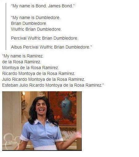 "Esteban. . My name is Bond. James Band-""- My name is Brian . afore. Brian . Percival : Brian , Alana Percival 11% lmc. Brian Em mama are. "" My name la, -Ramirez llamas"