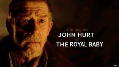 I'll bet that hurt. . JOHN HURT TH E ROYAL BABY EEC. I guess you could call him... a fresh prince I'll bet that hurt JOHN HURT TH E ROYAL BABY EEC I guess you could call him a fresh prince