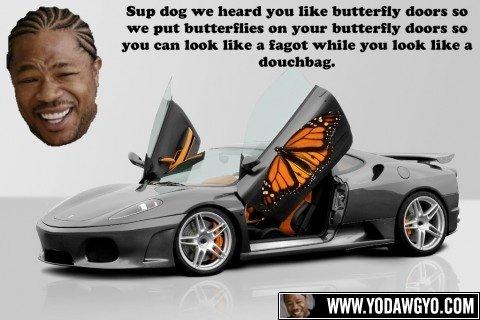 I Heard you like Butterflies. . yo dawg lol i heard You like Cars butterflies so we put a in can WHILE