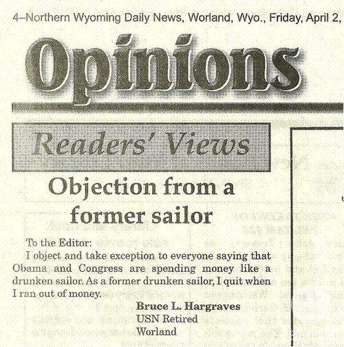 I still have money so I'm still drinking. opinion newspaper obama drinking drunk