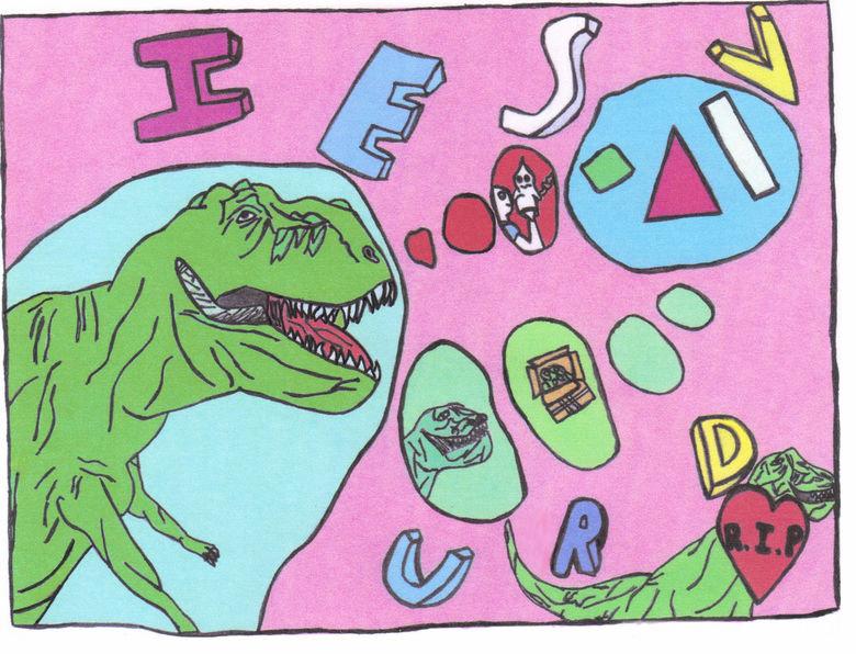 IESVURD. . dinosaur Dino letters