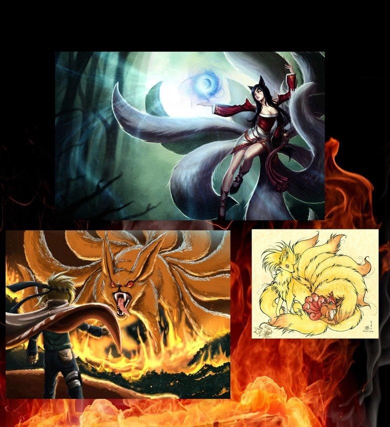 If you didn't notice.... Ahri, Naruto, Vulnona.. bottom left, thought the vulpix was the ninetales ballsack at first ahri vulnona nar