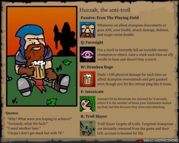 imagine.... A troll playing anti-troll D-: Thank you elohell... would his ult always target trundle? lol troll