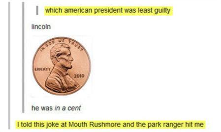 In a cent. .. Mouth rushmore In a cent Mouth rushmore