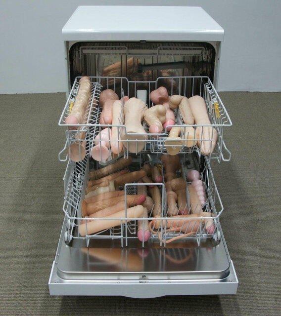 In OP's dishwasher.. Oh , I'm OP.. In OP's dishwasher Oh I'm OP