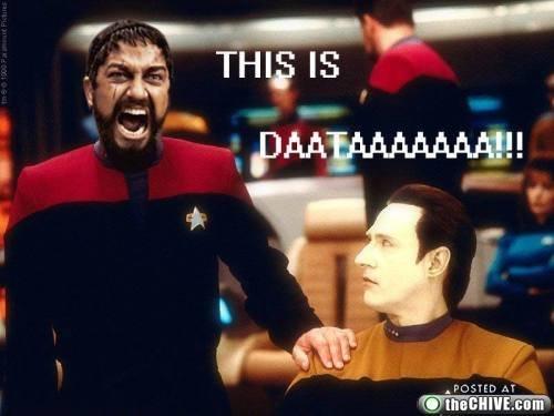MADNESS. .. It's pronounced data... MADNESS It's pronounced data