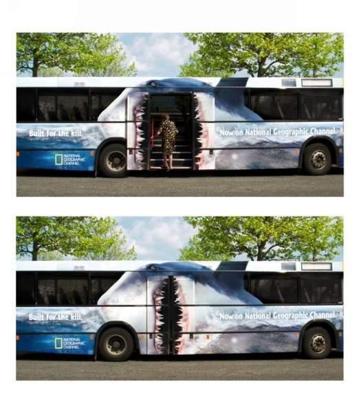 Man Eating Bus. . Bus Door Shark