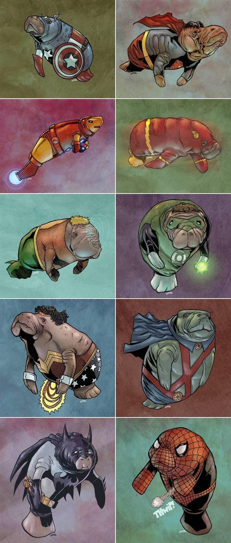Manatee Superheroes. .. Lost it at Aquamanatee. Manatee Superheroes Lost it at Aquamanatee