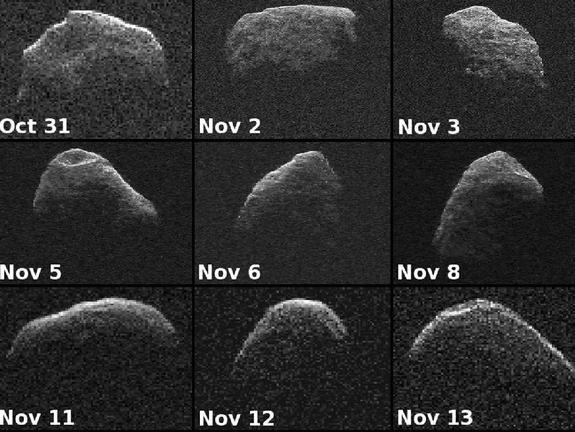 many faces of an asteriod. . that 31 Nov 2 New 3 Nov 5 Nov 6 Nov Nov 11 Nov 12 Nov 13 emag ehT