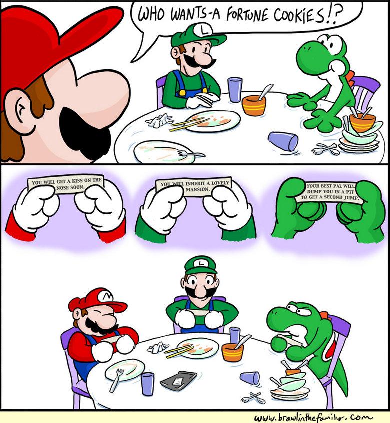 Mario Fortune Cookie. . Mario Fortune Cookie