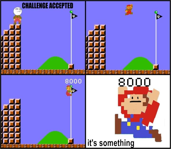 Mario. . BEBE. flagpole. Mario BEBE flagpole