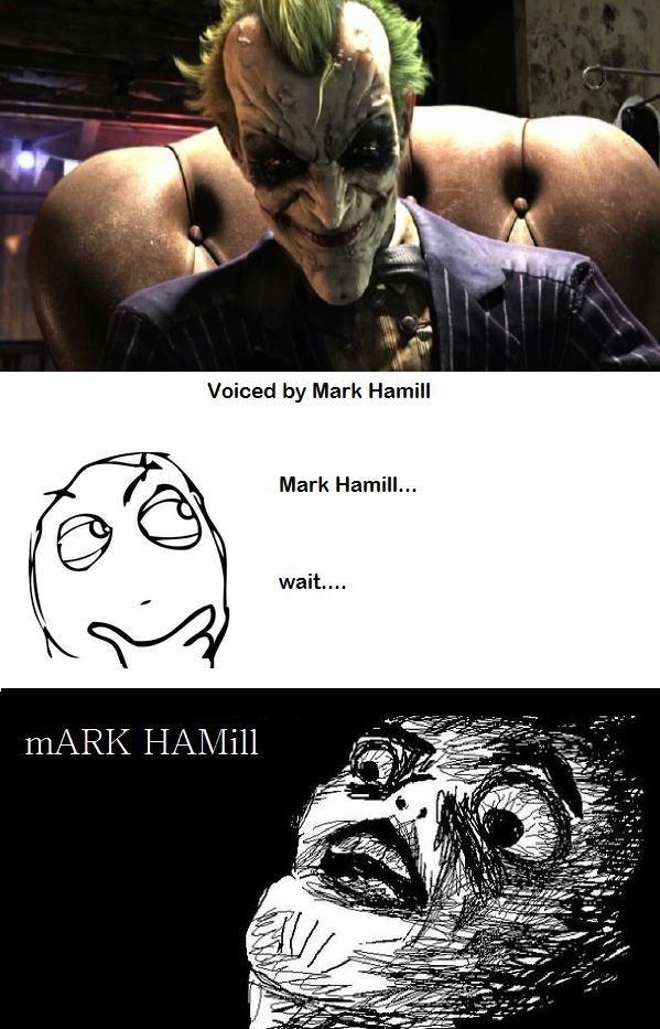 Mark Hamill. Why so sexy bat man?. Voiced by Mark Hamill Mark Hamill.... <---- Also voiced by Mark Hamill. It's Skips from The Regular Show joker