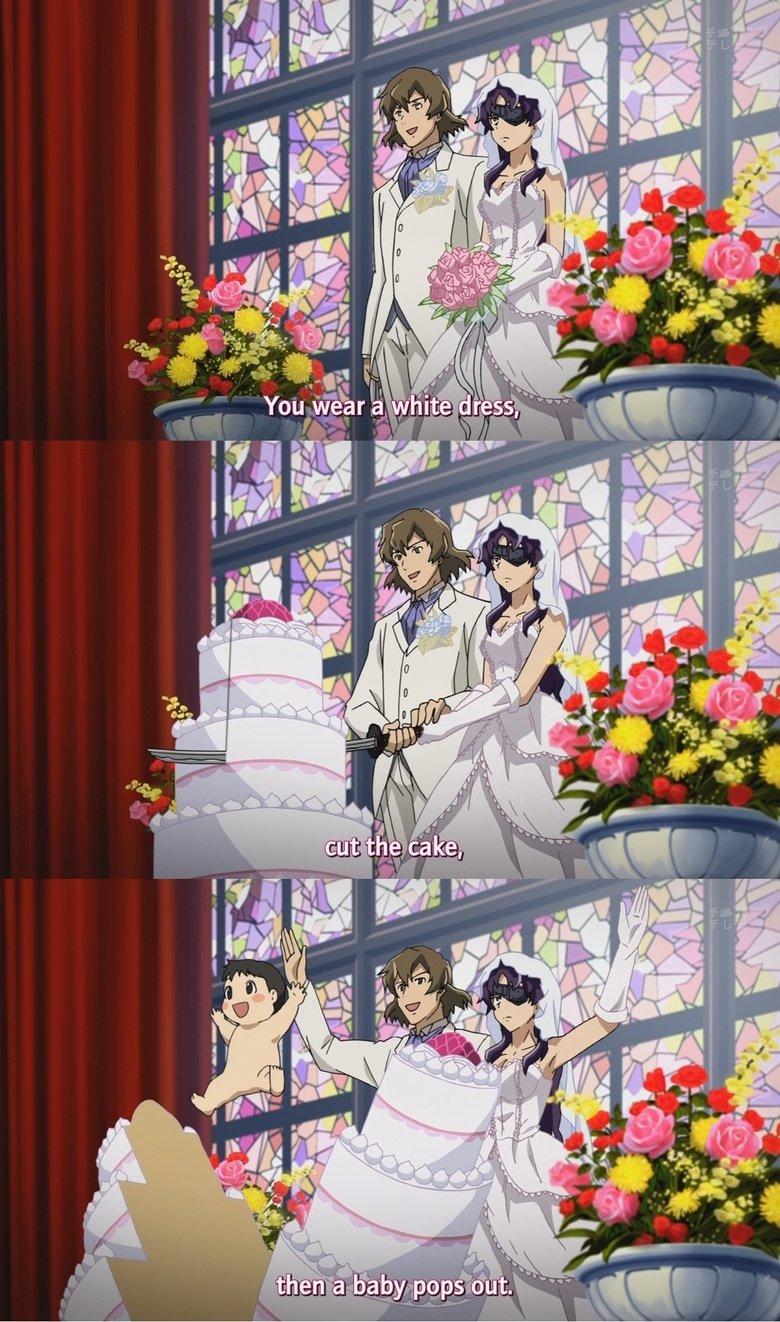 Marriage in a nutshell. .. Vat bwessed awwangement, vat dweam wiwwin a dweam. Anime