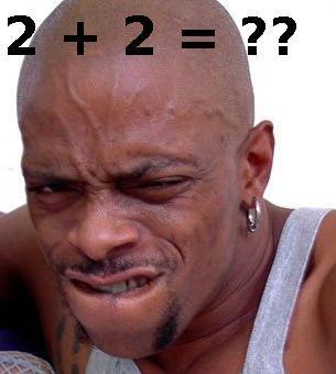 Math sucks. black guy tries to do math.. Maaaaaaaaaaan! Looks like DMX is having a stroke. black guy math
