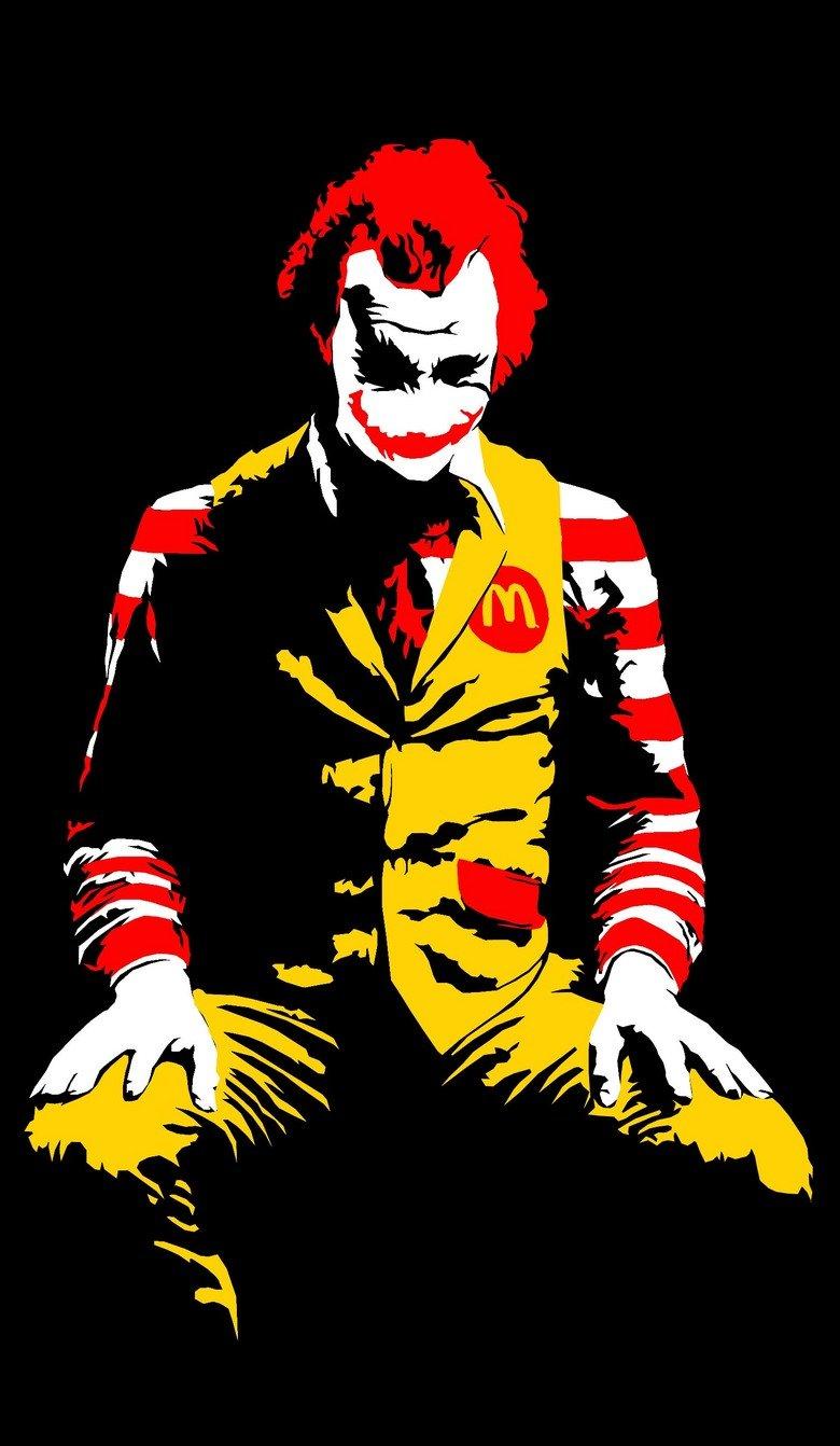 McDonald's Joker. The Joker's new look?.. Lets put a McSmile on that face mcdonalds joker