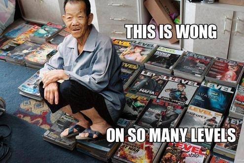 Meet mr Wong. Not oc. E fass an f. So when does he level up? nope