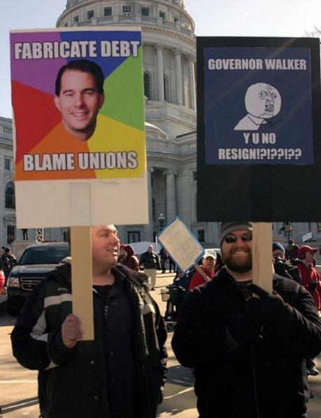 Meme Protest. The Protests in Wisonsin. meme Protest