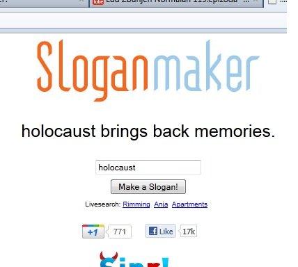 Memories. . Sloganmaker holocaust brings back memories. holocaust Fania Slogan maker