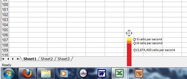 Microsoft Excel Scrolling Speeds. . Microsoft Excel Scrolling Speeds