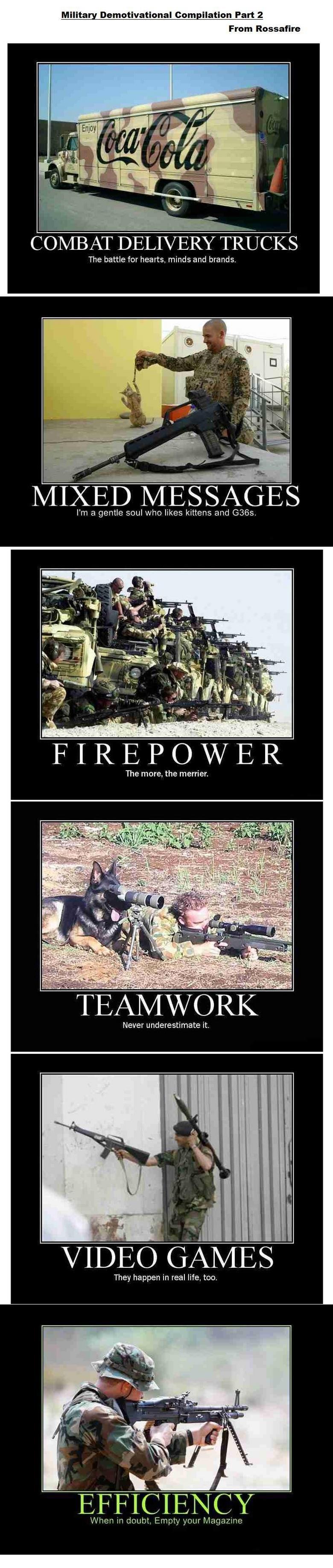 Military Demotivational Compilation 2. More military demotivators<br /> Part 1: /funny_pictures/714394/Military+Demotivational+Compilation/<br /> Sp Military