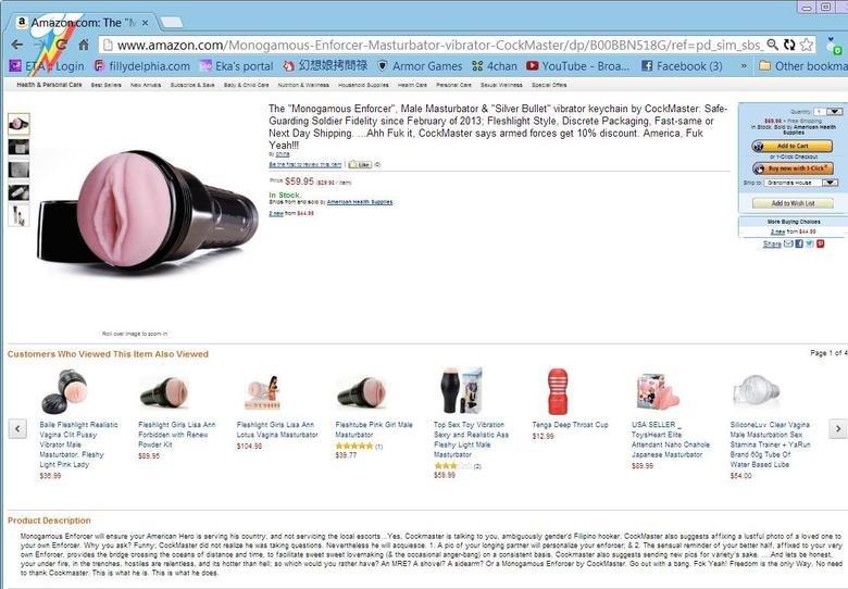 Monogamy Enforcer. Product Description is Priceless.. Fleshlight amazon WTF