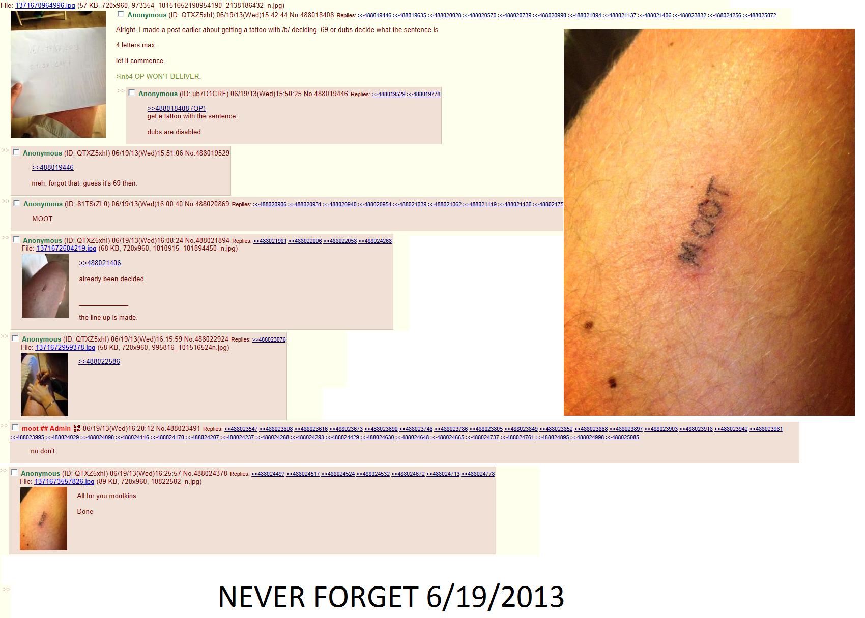 Moot tattoo. (enlarge).. what a retard moot Tattoo 4Chan