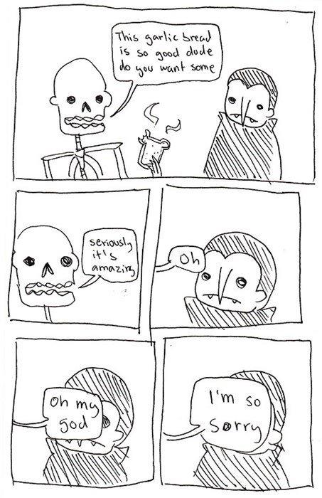Mr. Skeleton. skeletons, and vampires.. These are hilarious Vampire Skeletons twilight puns joke funny humor death blood canadian sorry