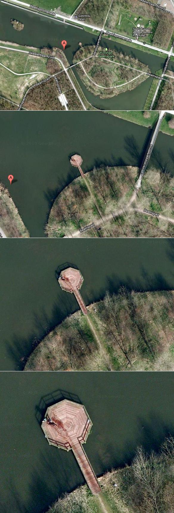 Murder on Google maps!. Koningin Beatrixpark, Beatrixpromenade, Almere-Stad, Almere, Nizozemska.