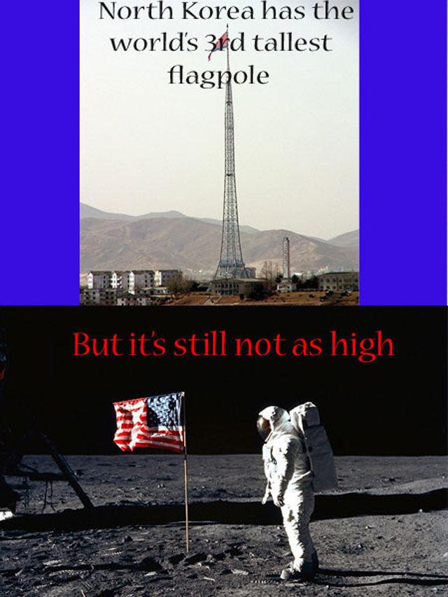 ´Murica. .. Poor old Kim Jong Un, he can't get his rocket up. asdasdasdasd